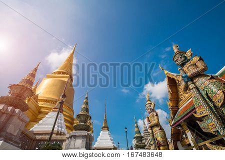 Wat Phra Keow. The Royal Temple In Bangkok, Thailand Is Located Near Bangkok Grand Palace.
