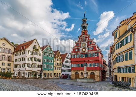Square with old town hall in Esslingen am Neckar Germany