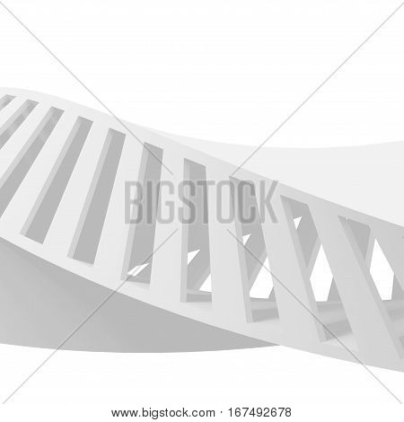 Abstract White Spiral Structure, 3D Helix