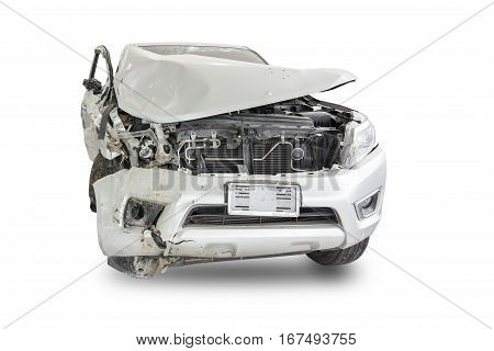 Car Of Accident  Damaged At Claim The Insurance Company.