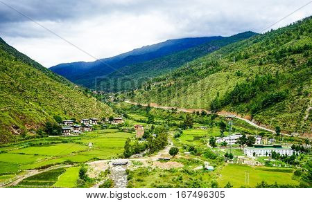Mountain Scenery In Thimphu, Bhutan