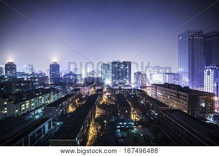 Beijing China - 21 December 2013: Skyline of downtown Beijing