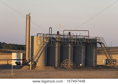 Crude Oil storage tanks in North Dakota