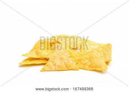 Mexicana potato chips isolated on white background