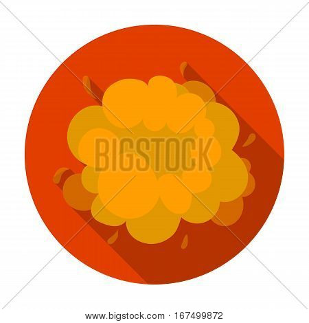 Explosion icon in flat design isolated on white background. Explosions symbol stock vector illustration.