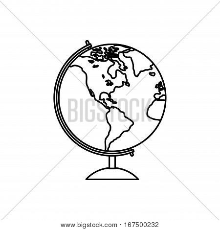 School world globe icon vector illustration graphic design