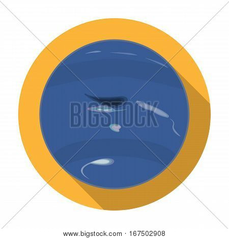 Neptune icon in flat design isolated on white background. Planets symbol stock vector illustration.