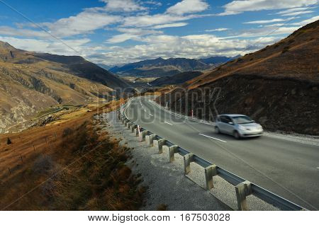 Road To Queenstown, New Zealand