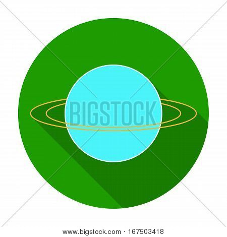 Uranus icon in flat design isolated on white background. Planets symbol stock vector illustration.