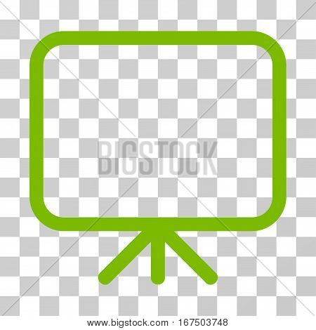 Presentation Screen vector pictogram. Illustration style is flat iconic eco green symbol on a transparent background.
