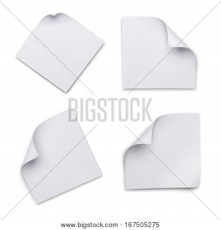 Set Of White Blank Sheets Of Paper For Correspondence