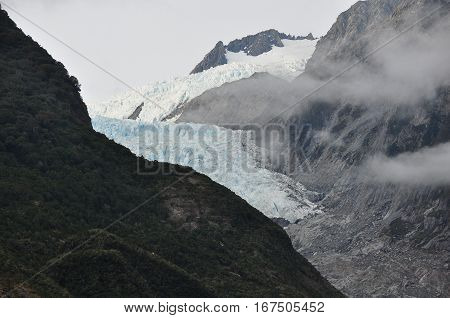Franz Josef Glacier New Zealand beautiful landscape.