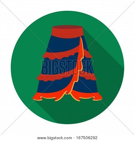 Flamenco skirt icon in flat design isolated on white background. Spain country symbol stock vector illustration.
