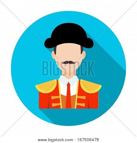 Matador icon in flat design isolated on white background. Spain country symbol stock vector illustration.