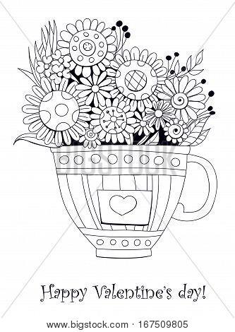 Bouquet Of Doodled Flowers