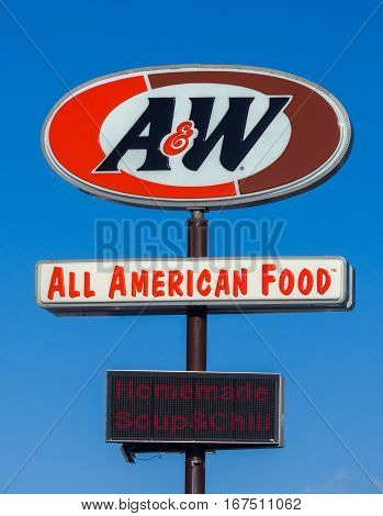 A&w Restaurant Sign And Logo