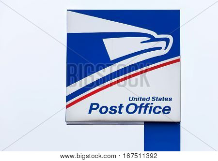 United States Postal Service Sign And Logo.