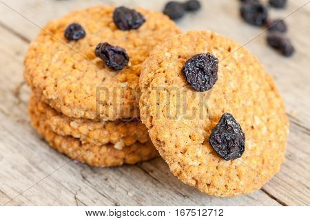 Ceareal Cookies With Dry Blueberries