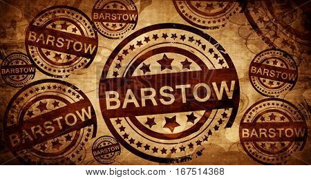 barstow, vintage stamp on paper background