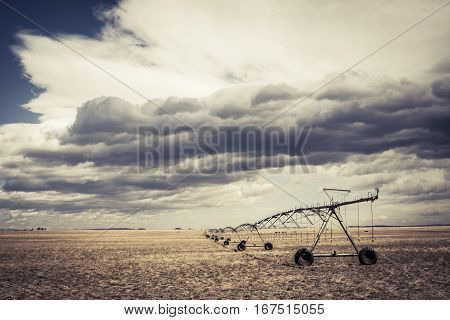 Irrigation system for a farm in rural America