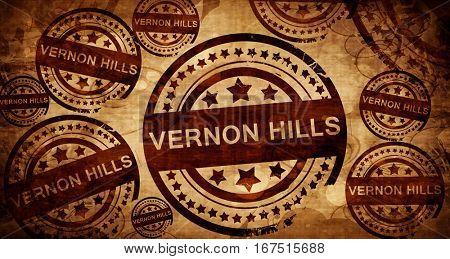 vernon hills, vintage stamp on paper background