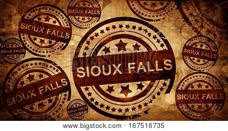 sioux falls, vintage stamp on paper background