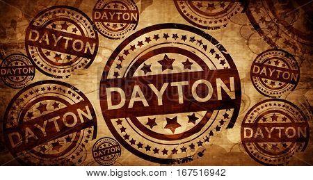 dayton, vintage stamp on paper background