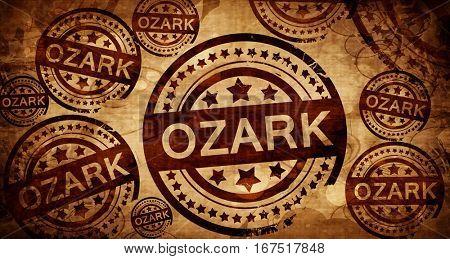 ozark, vintage stamp on paper background