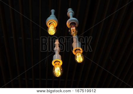 Modern decorative ceiling lamp 4 without a lampshade