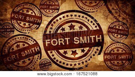 fort smith, vintage stamp on paper background
