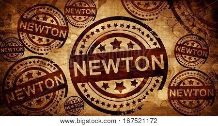 newton, vintage stamp on paper background