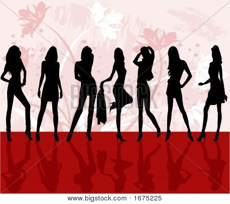 Fashion Girls - Vector Illustration