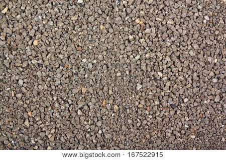 Cat kitty litter background texture with clean and new brown gray