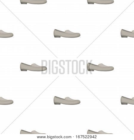 Loafers icon in cartoon style isolated on white background. Shoes pattern vector illustration.