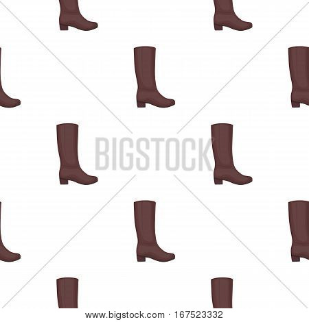 Knee high boots icon in cartoon style isolated on white background. Shoes pattern vector illustration.