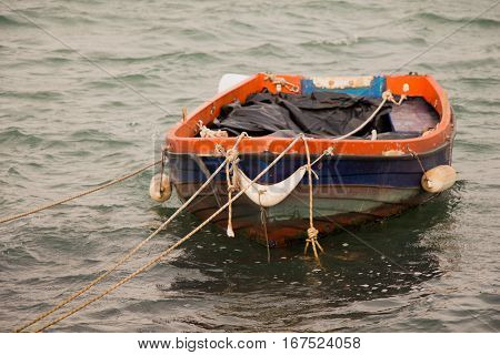 Fishing Boat In The Waters Of Sea
