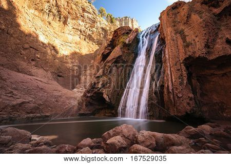 The sources Oum er- Rbia. The Oum er- Rbia is the second largest river in Morocco and is 555 km long.