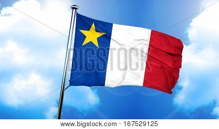 Acadia flag, 3D rendering