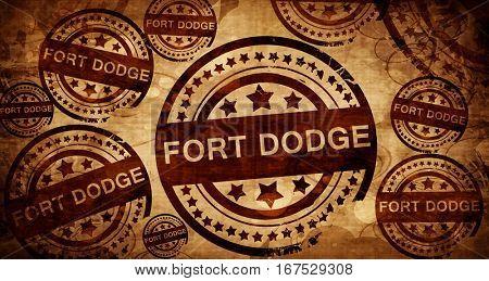 fort dodge, vintage stamp on paper background