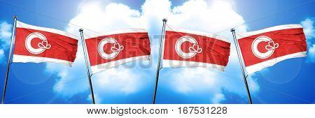 Calgary flag, 3D rendering