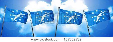 Corpus christi flag, 3D rendering