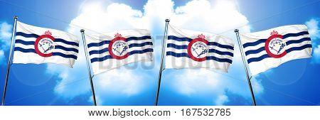 Cincinnati flag, 3D rendering