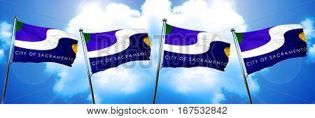 Sacramento flag, 3D rendering
