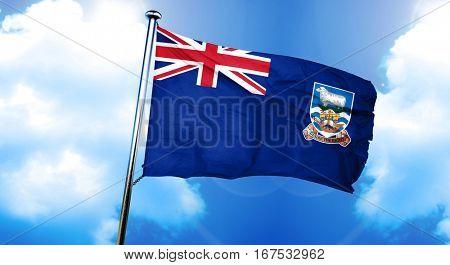 Falkland islands flag, 3D rendering