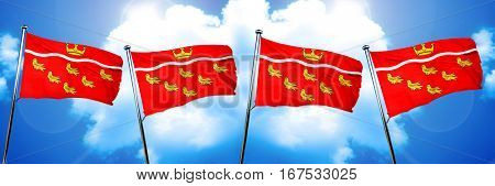 East sussex flag, 3D rendering