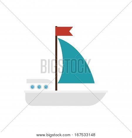 sailboat maritime isolated icon vector illustration design