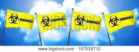 Diarrhea flag, 3D rendering