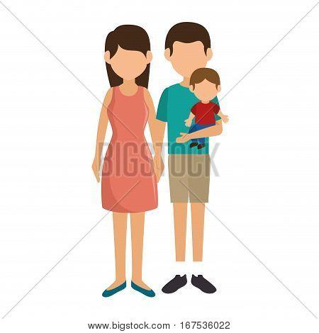 cute family member on vacations vector illustration design