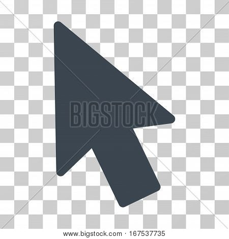 Mouse Pointer vector pictogram. Illustration style is flat iconic smooth blue symbol on a transparent background.
