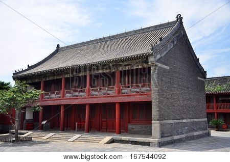 Xiangfeng Pavilion in the center of Shenyang Imperial Palace (Mukden Palace), Shenyang, Liaoning Province, China. Shenyang Imperial Palace is UNESCO world heritage site built in 400 years ago.